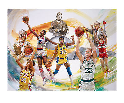 Clock Is Ticking SALE! Basketball Hall of Fame Lithograph • Magic Johnson