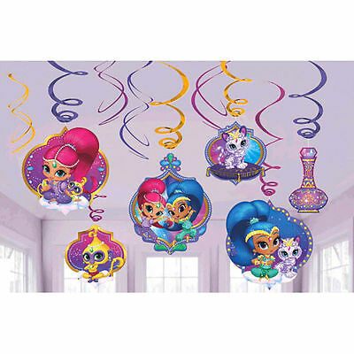 Shimmer and Shine Genies Hanging Swirl Decoration Danglers Birthday Party Supply