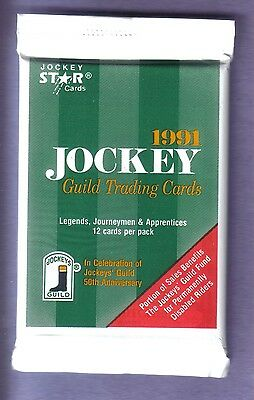 1991 Jockey Star Trading Cards Pack Officially Licensed by the Jockey's Guild