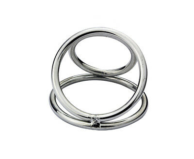 Triple Stainless Steel Male Chastity Device Rings And Ball Enhancer A172