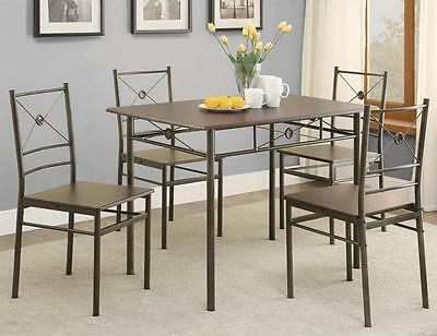 Contemporary Casual Dark Bronze Finish 5 Piece Dining Set  by Coaster 100033