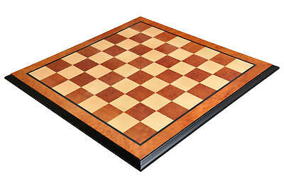"""Luxe Traditional Chess Board - ELM BURL / MAPLE - 2.5"""" Squares"""