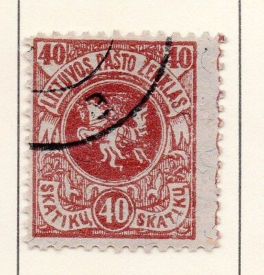 Lithuania 1919 Early Issue Fine Used 40sk. 149597
