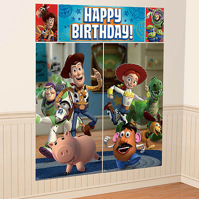 Disney Toy Story WALL POSTER Decoration Kit Scene Setter Birthday Party Supplies