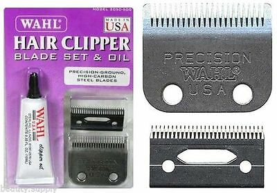 Wahl 2050-500 Replacement Blades For Precision Hair Clipper+Oil+Screws/Trimmer