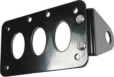 TC Bros Choppers Gloss Black Side Mount License Plate Bracket for Harley