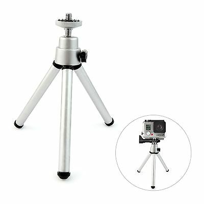 Mini Silver Extendable Leg Tripod Mount Stand for GoPro Hero 4 / 3+ / 3 / 2 / 1