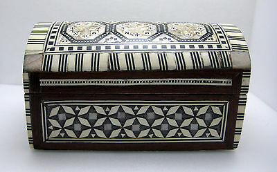 """Ornate Wooden Box 5"""" x 3 1/4""""  Mother of Peal"""