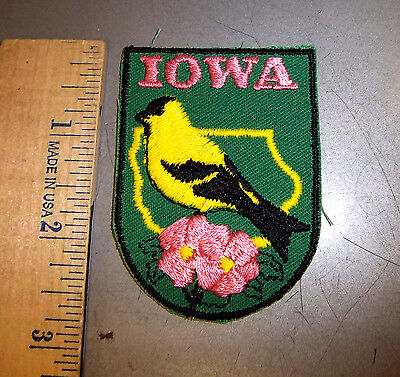 Iowa embroidered patch - Unused in package - by Voyager Emblems 1970s