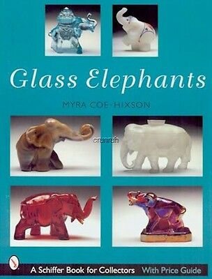 GLASS ELEPHANTS covers makers Fenton, Heisey, Mosser, Tiara, Boyd, & others