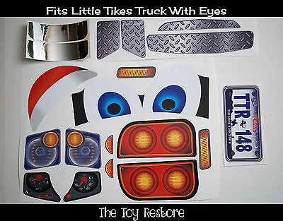 Replacement Decals fits Little Tikes Cozy Coupe Truck With Eyes Texas for Boy