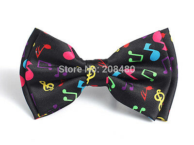 Unisex Multi Color Musical Note Novelty Bow Tie - Brand New