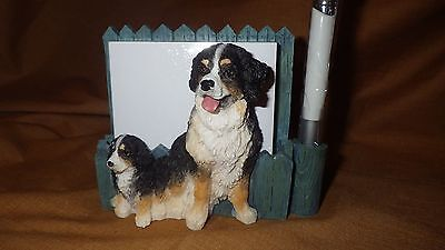 Bernese Mountain Dog Desk Set Memo Holder Pen Refrigerator Magnet NIB