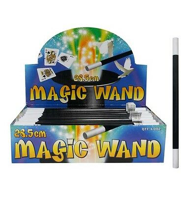 Childrens Magicians Magic Wand 26.5 CM Kids Loot Party Toys FancyDress Accessory
