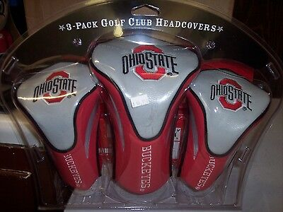 NEW TEAM GOLF Ohio State University 3 pack Tartan Head Cover