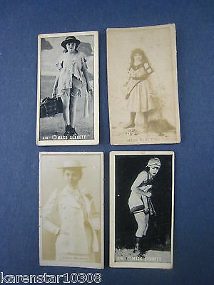 VINTAGE LOT OF 4 TOBACCO CARDS,PHOTOS...1800'S....' ' ...# D-4