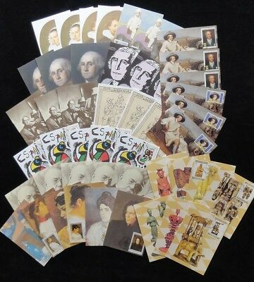 S.Tome E Principe ART TB Chess 1981/84 1st Day Used Maxi Cards x  48 (D3)