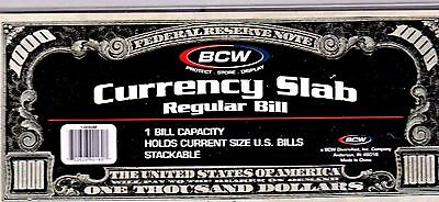 1-BCW Deluxe Currency Slab,Currency Holder-Regular or Current Size Bill