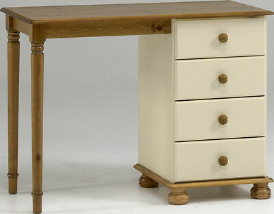 Richmond Cream Pine Dressing Table With 4 Drawers - Country Farmhouse