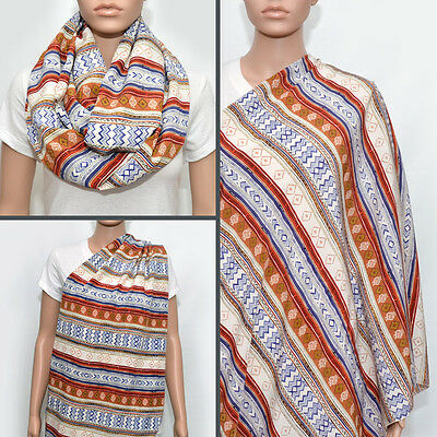 Nursing Cover, Nursing Scarf, Nursing Cover Scarf, Tribal Infinity Scarf