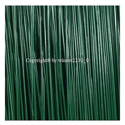 "Select 2kgs GREEN Plastic Coated 16 18 20 22 GAUGE Florist Wire 9 18"" Length DIY"