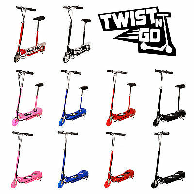 New Kids Electric E Scooter Adjustable Removable Seat Battery TWIST N GO 120W