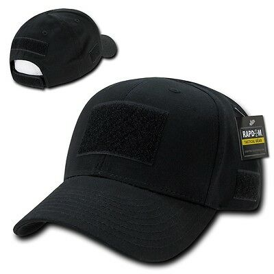 Black Tactical Operator Contractor Patch Low Crown Baseball Ball Cap Hat