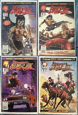 Bruce Lee # 1, 2, 4, 5 Malibu Comics (1994)(lot of 4)