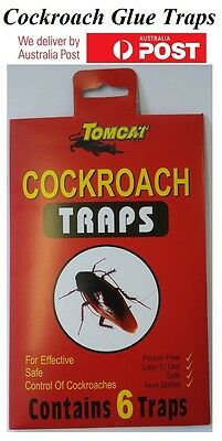 COCKROACH Glue Traps Contains 6 Traps - Effective Safe Control Fast Shipping