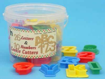 NEW 10 Numbers & 26 Alphabet Cookie Playdough Cutters