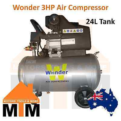 *SALE 1 WEEK ONLY* WONDER 3HP 240v Air Compressor Direct Drive 198L/min 24L Tank