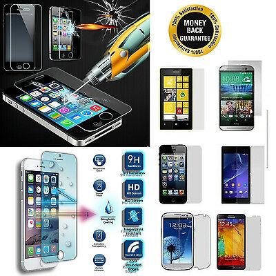 100% Genuine Tempered Glass Tough Shock Proof Screen Protector For Mobile Phones