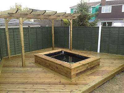 New Raised Large 400L Tank For Fish Pond - Raised Flower Bed - Water Feature -