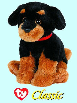 "Ty® 12"" Brutus Classic® Large Rottweiler #10040 2014 VERSION CUTE & CUDDLY"