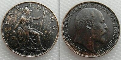 Collectable King Eward VII of Great Britain Farthing coin ,, Dated 1902 Lot 1
