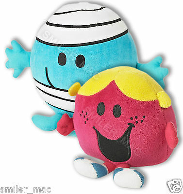 10 inch Mr Men Mr Bump N Crash / Little Miss Chatterbox Record & Play Plush Toy