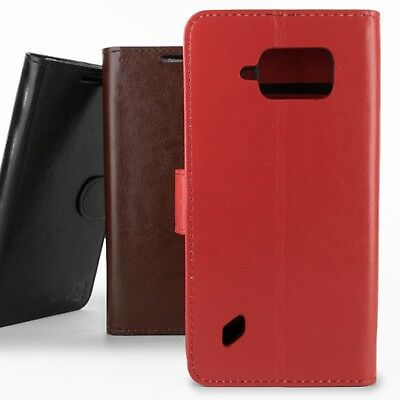 For Samsung Galaxy S6 Active G890 Leather Case - Flip Folio Wallet Pouch Cover