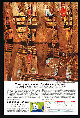 1965 Mississippi Natchez Trace Photo Middle South Utilities Vintage Print Ad