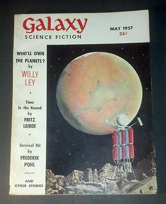 GALAXY SCIENCE FICTION May 1957 Vintage Pulp Sci-Fi Cool MARS Cover EXCELLENT