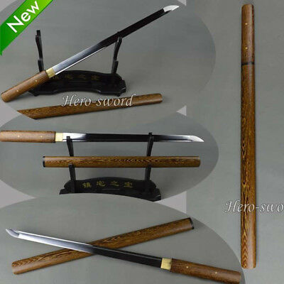 Brand New Japanese Samurai Sword Full Tang Wakizashi Sharp Ninja straight Knife