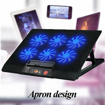 "Ares N8 Laptop Cooler Cooling Pad Anti-slip 6 Fans for 15.6"" 17"" Notebook Mac"