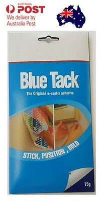Blue/White Tack 75g THE ORIGINAL RE-USABLE ADHESIVE PICTURE FAST SHIPPING