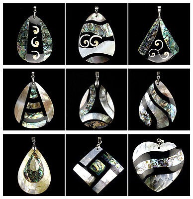 A6685 Intarsia shell abalone shell pendant,DIY necklace accessory wholesale