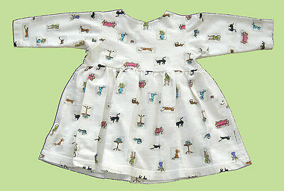 Vintage Baby Clothes Toddler Girl's Cotton Cat Dress 12 Months
