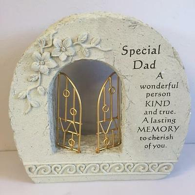 New GATES TO HEAVEN - SPECIAL DAD Grave Memorial Remembrance Plaque Ornament