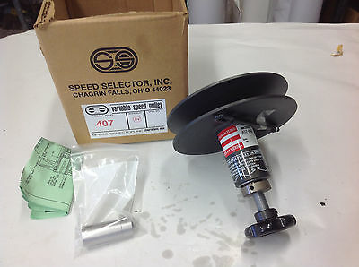 "Speed Selector 407-900 x 3/4"" Bore Variable Speed Pulley.  NEW- FREE SHIPPING"