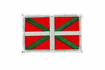 Patch Embroidered Patch Flag Bilbao Spain Thermoadhesive Backpack Bag in Back