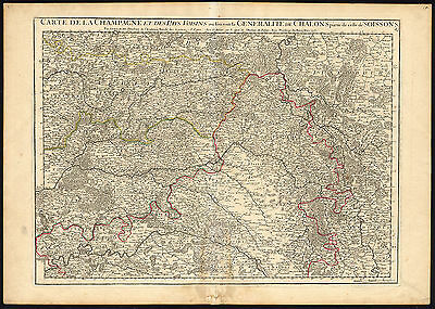 Antique Map-FRANCE-CHAMPAGNE-CHALONS-SOISSONS-De L'Isle-1713