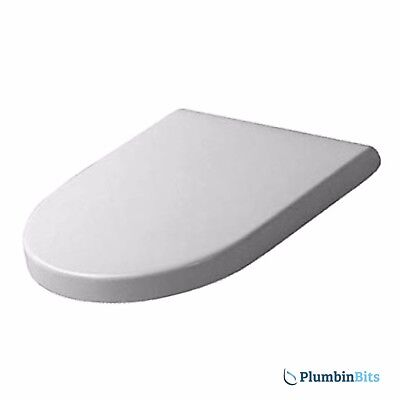 Duravit Starck 3 Replacement Toilet Seat & Cover Soft Close Hinges White 006389