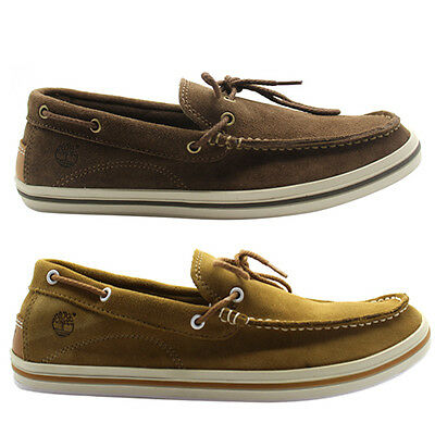 Timberland Suede Casco Bay 1 Eye Boat Shoes Mens Slip On 5647R 5236A Brown